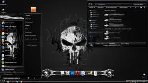 Каратель - Темная тема с черепами