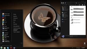 Black coffee - Тема в черных тонах