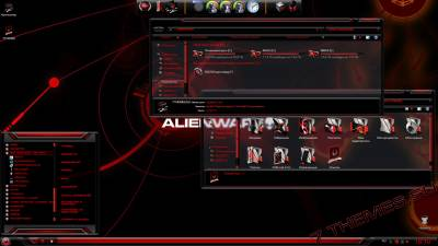 Red Alienware Skin Pack