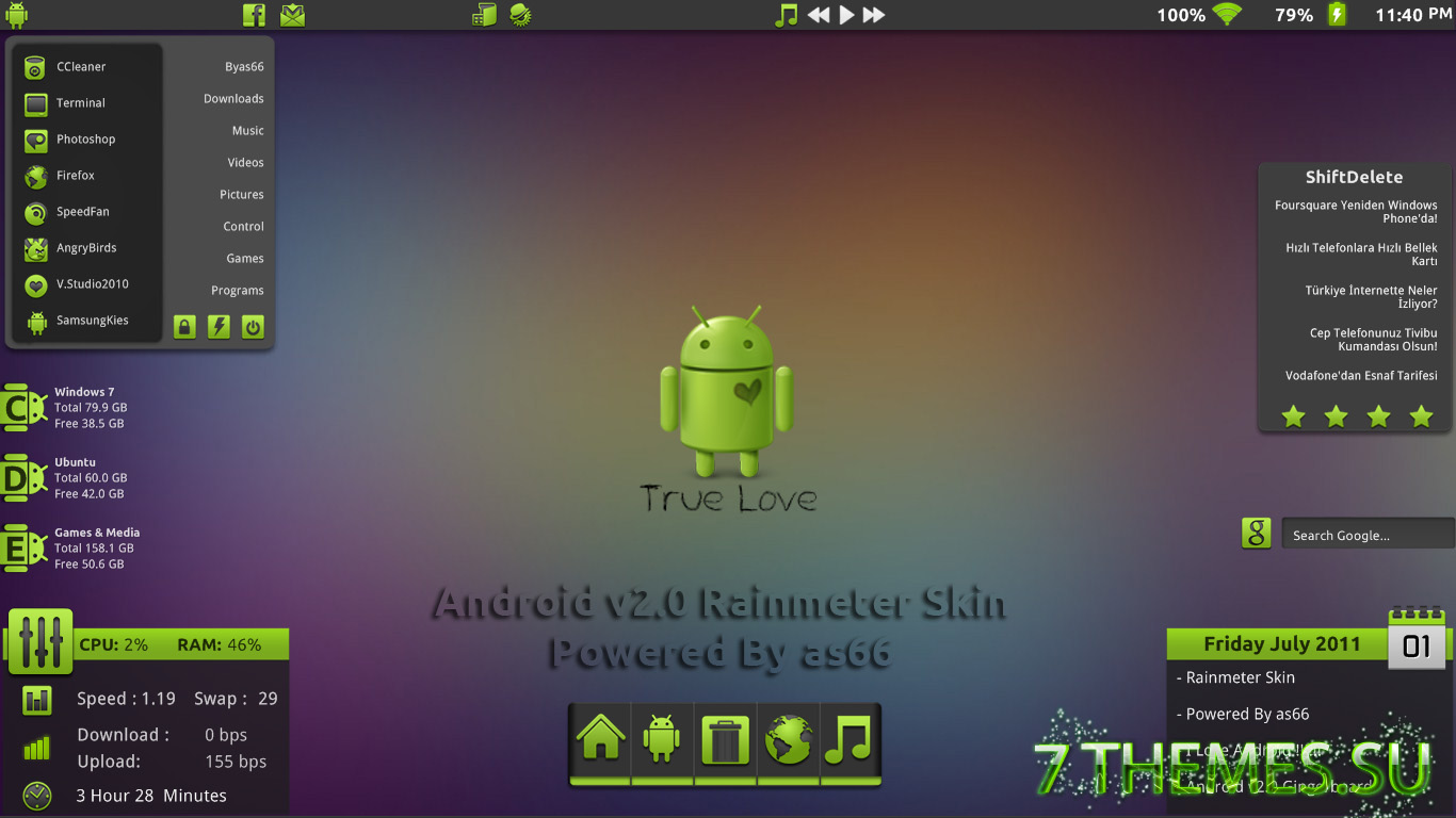 Free Download Rainmeter Skin Installer - sharksupernew