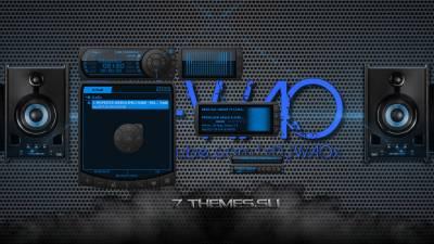 Blue Wave - Aimp 3 в Хай-тек стиле