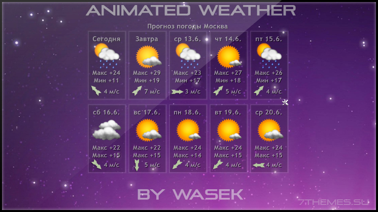 Animated weather