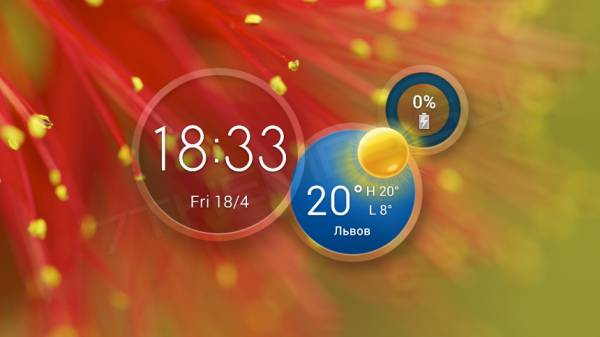 Atrix HD Weather