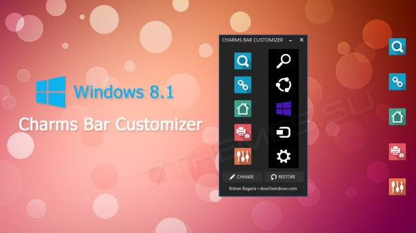 Windows 8.1 Charms Bar Customizer