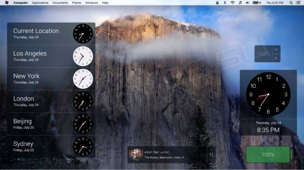 Yosemite Menu Bar