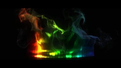 Colorful smoke Particle