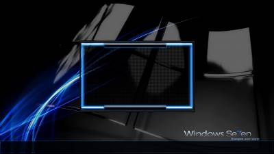Windows Seven logon blue