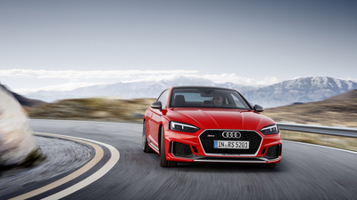 RS5, Audi, RS, Speed, Road, A5, Drive, 2018, Red
