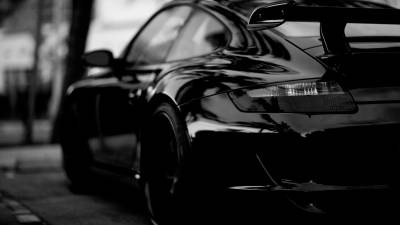 Black Porsche HD Wallpaper