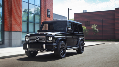Mercedes, Brick, G63, AMG, Black