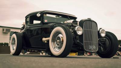Classic Black Hot Rod