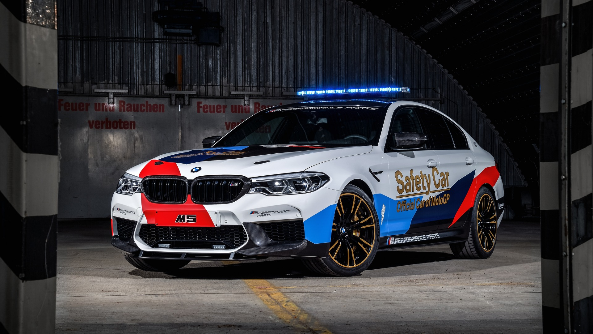 мигалки, BMW M5, 2018, MotoGP, Safety Car
