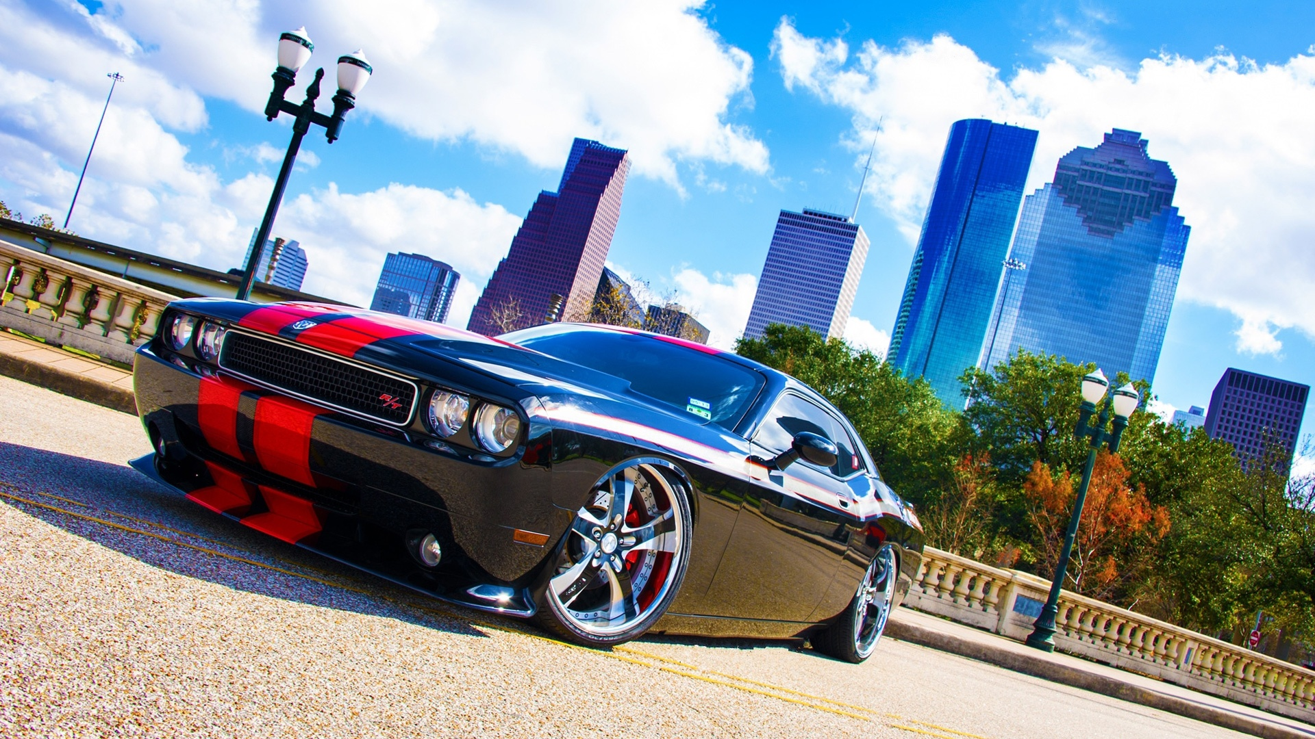 Black Red Dodge Challenger