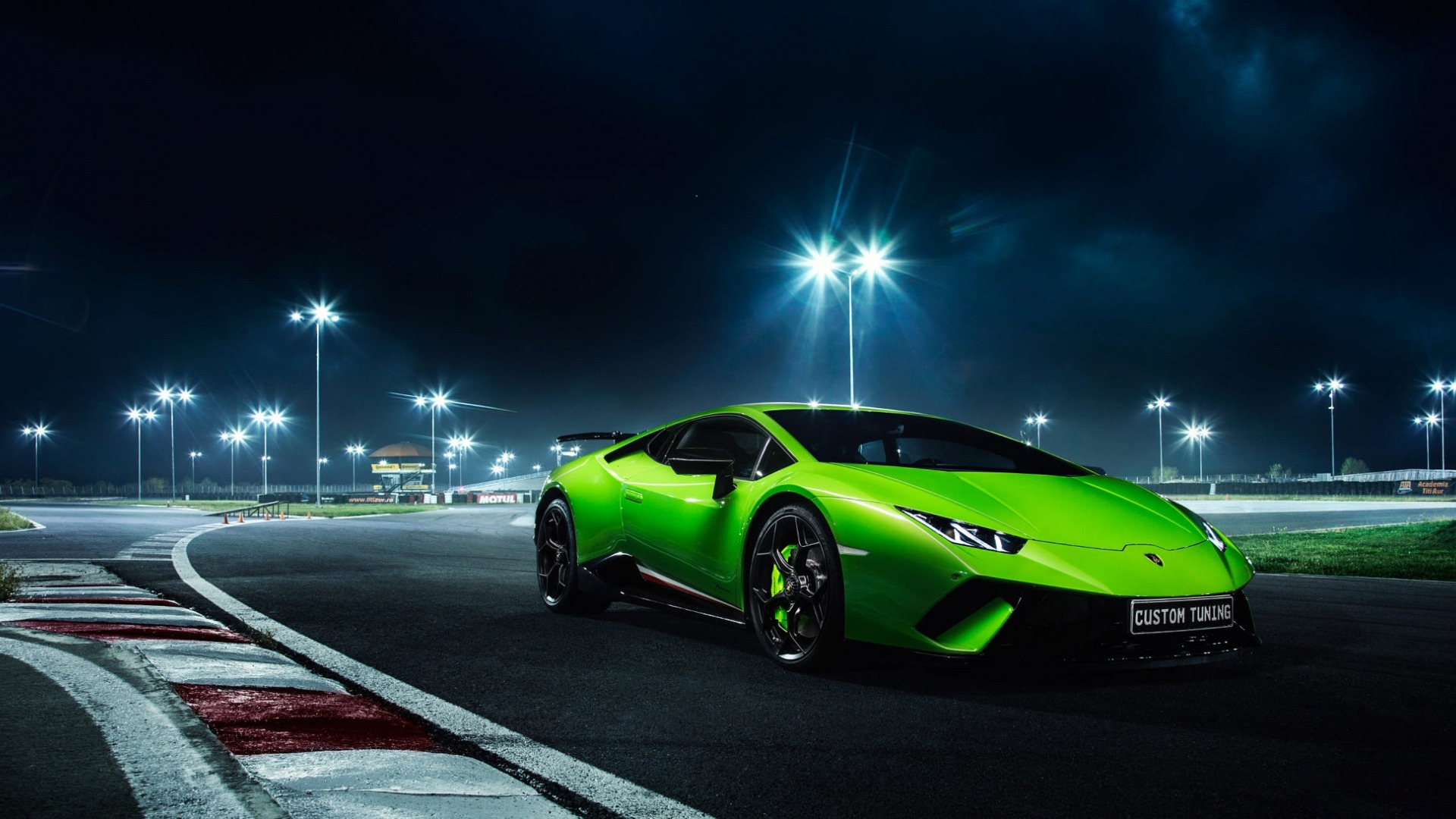 Huracan, Green, Night, Performante, Lamborghini
