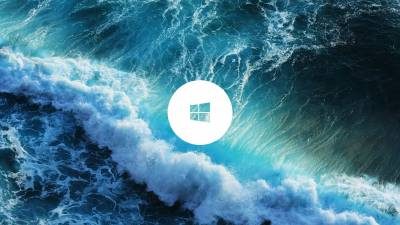 Windows Logo in Ocean