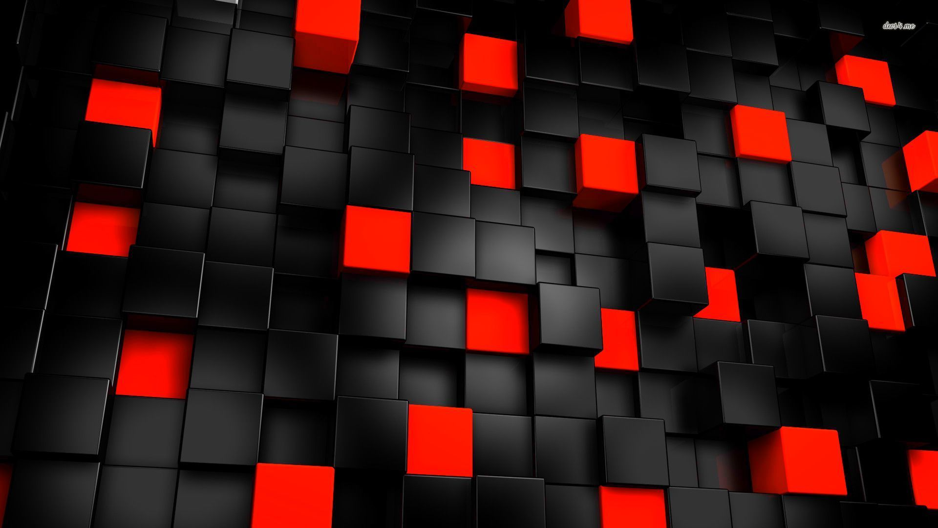 black and red cubes