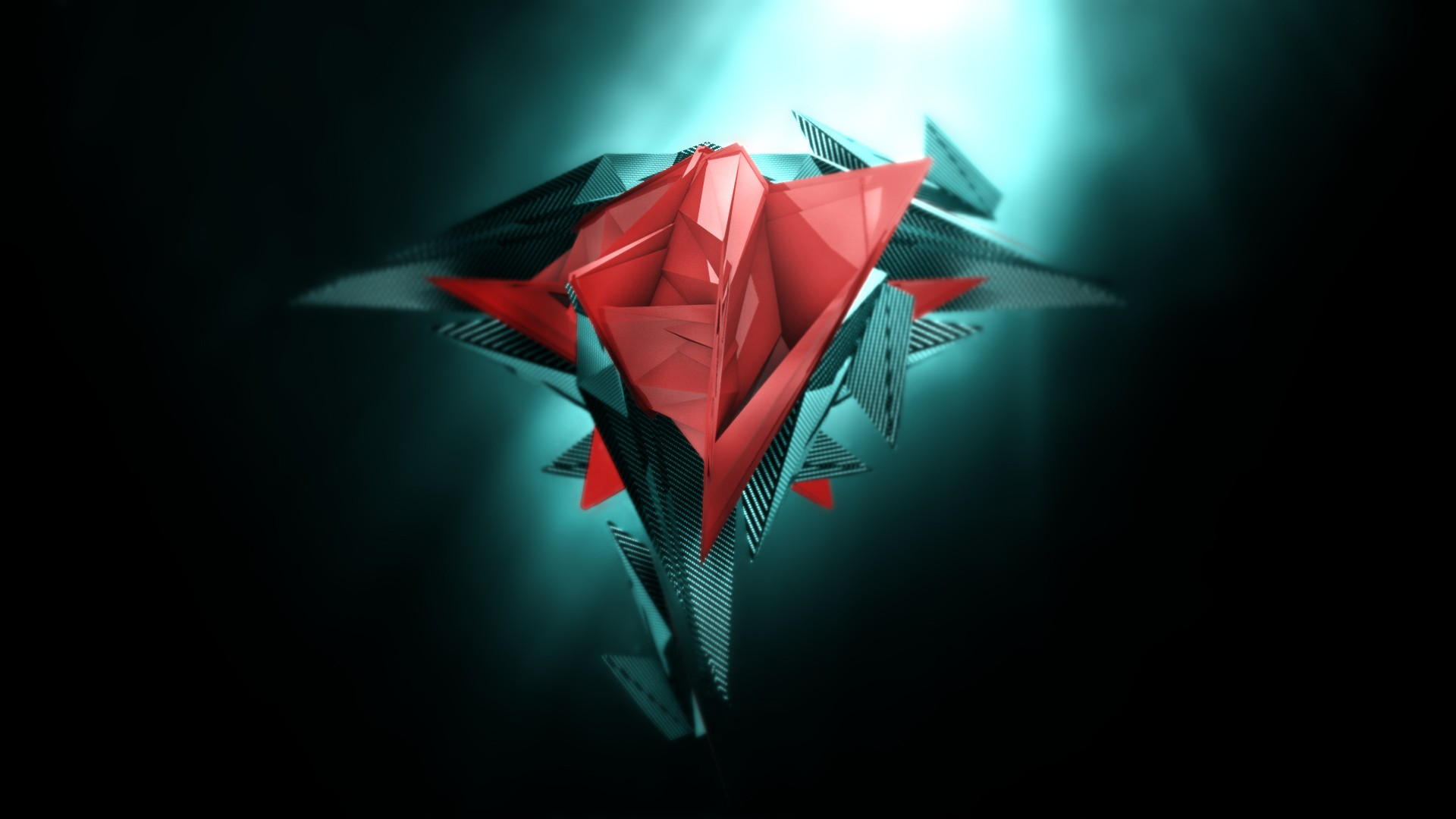 3D geometry red