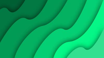 Green Abstract Simple Waves