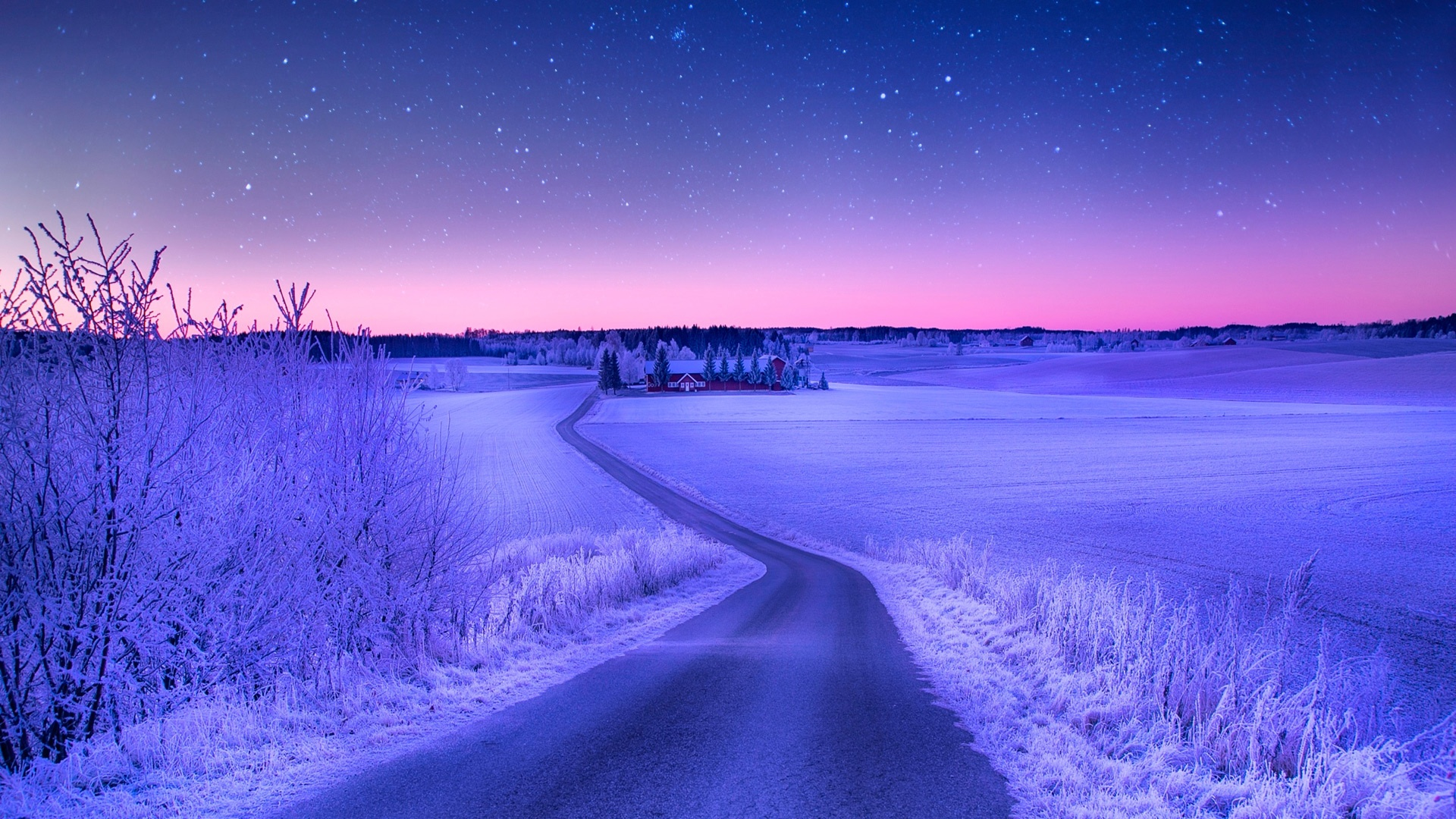 Norway Winter Road Sky