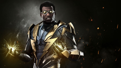 lightning, uniform, Black Lightning, Injustice 2