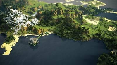 Minecraft Пейзаж