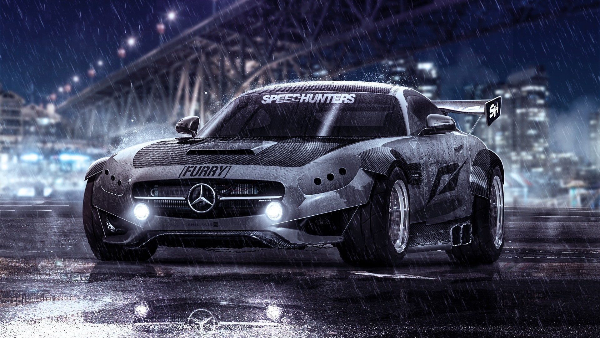Mercedes SLS speed hunters