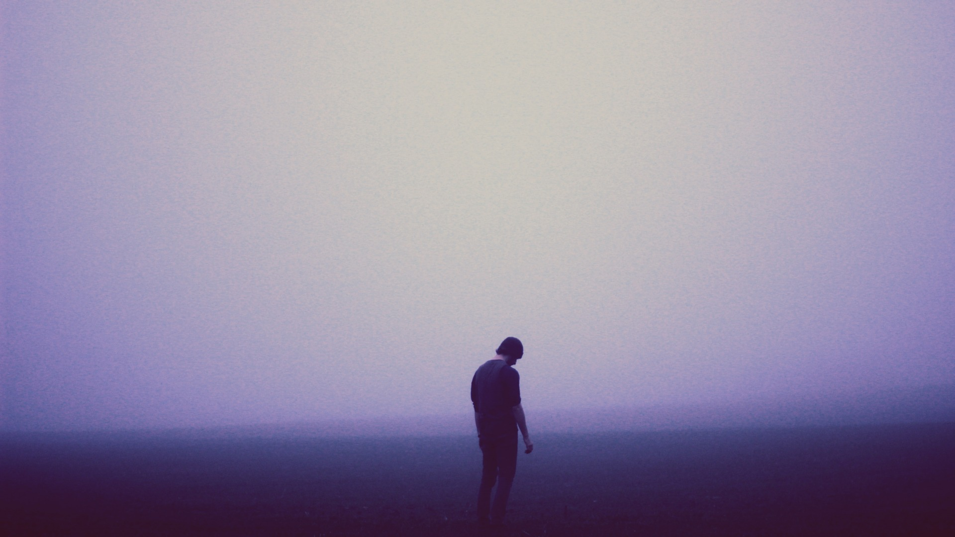 sad, melancholy, misty, man, foggy