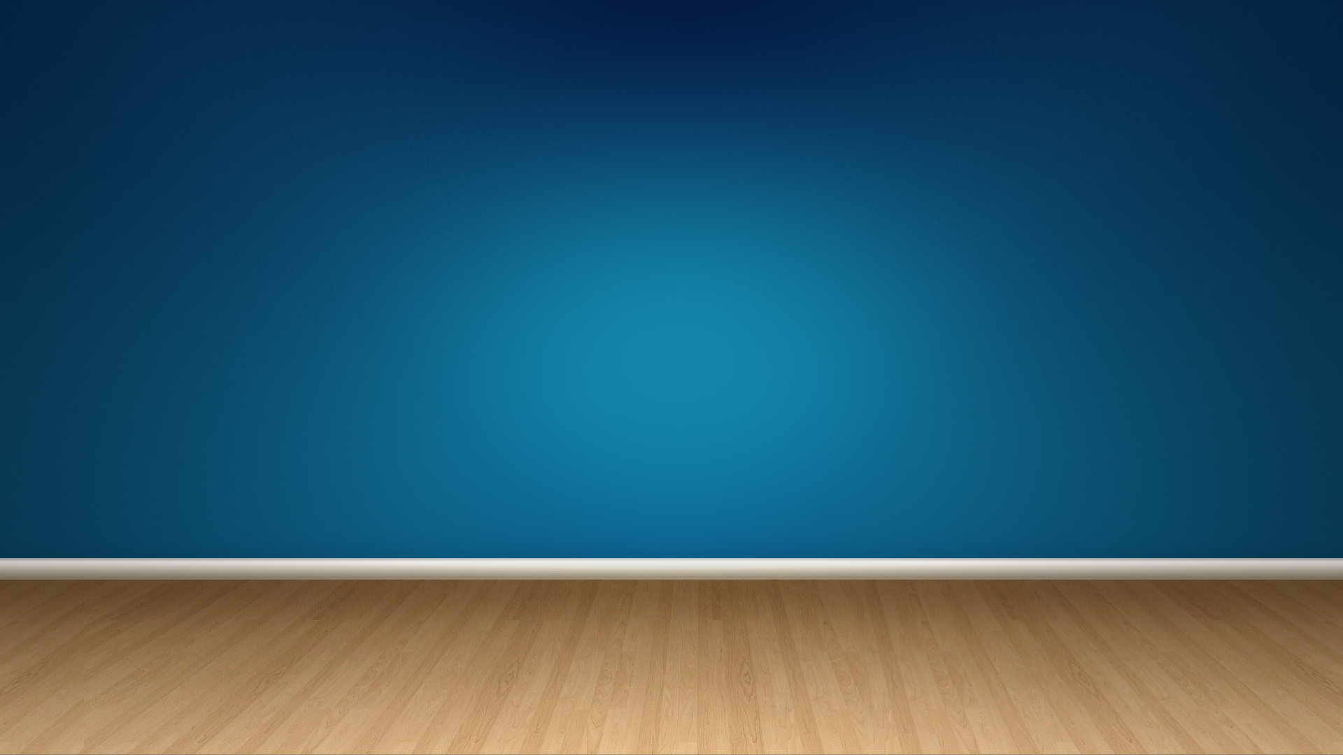 Blue wall and wood floor
