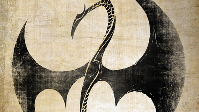 logo, dragon, Netflix, tv series, Iron Fist