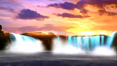 Sunset Waterfalls