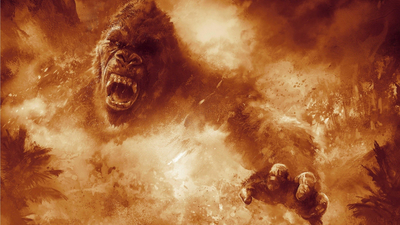 gorilla, film, strong, fire, kong