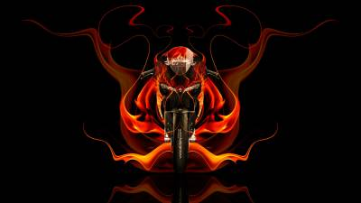 Tony Kokhan Sports Bike Flame