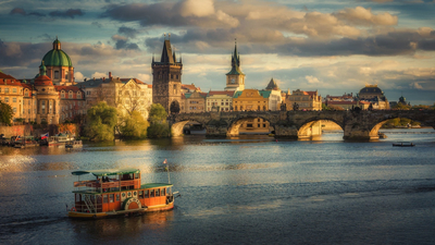 Czech Republic, мост, The Charles Bridge in Prague