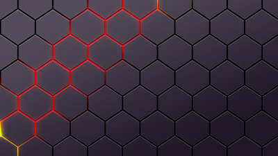 Glowing Hexagon Magma