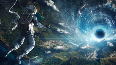 Astronaut in Vortex