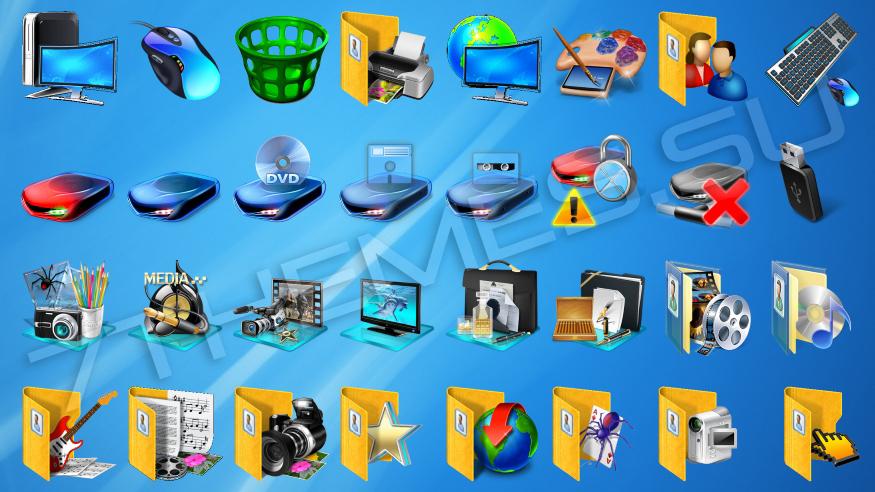 анимированные иконки на рабочий стол: