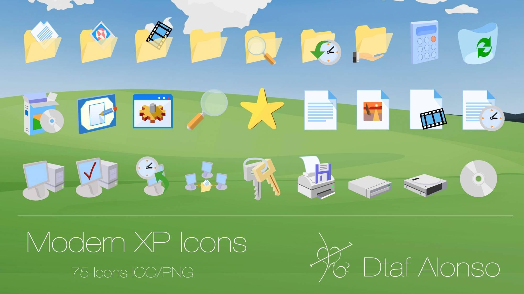 иконки скачать для xp: