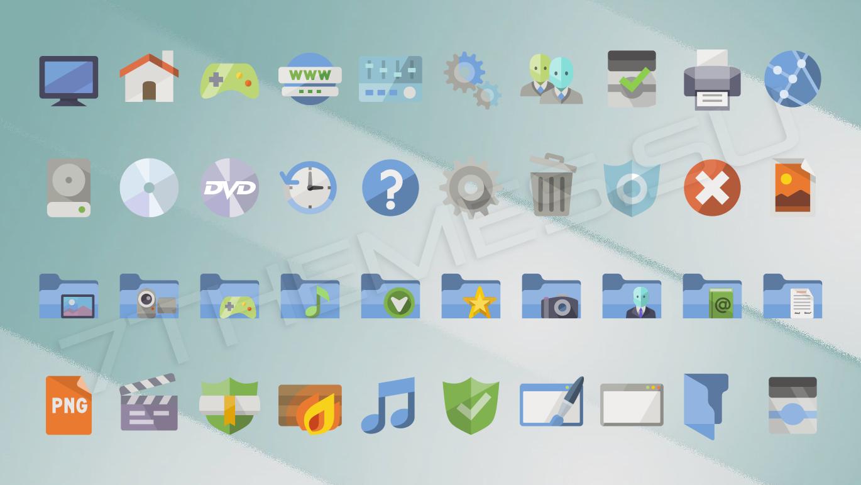 windows xp изменить схему иконок