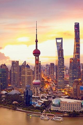 Обои Шанхай (320x480)