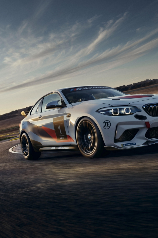 Обои BMW M2 CS Racing (640x960)
